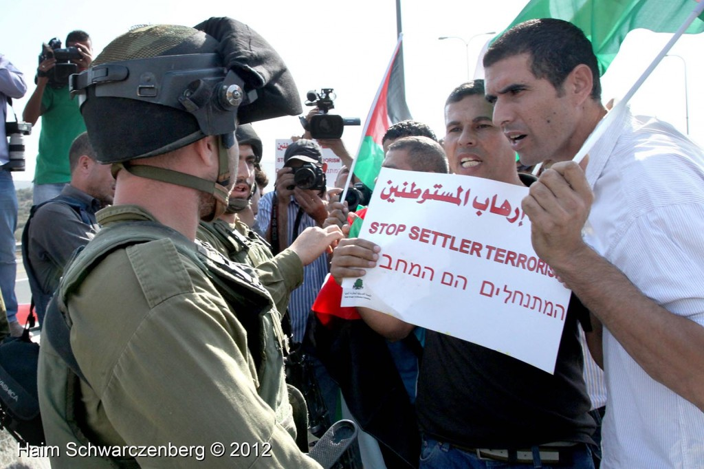 Palestinian and activists blocked Route 443 | IMG_1660