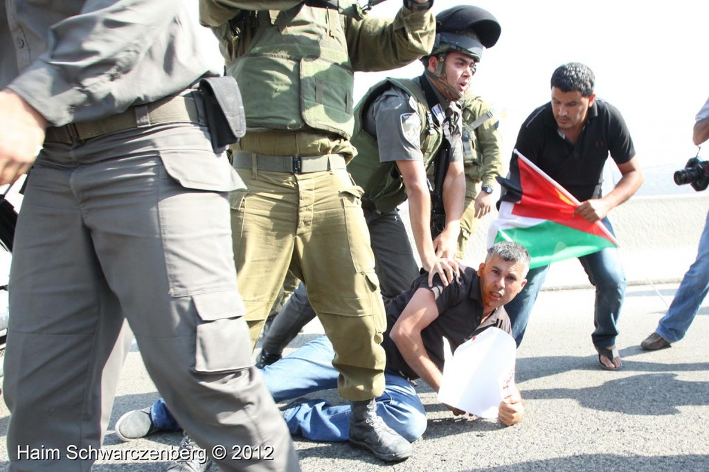 Palestinian and activists blocked Route 443 | IMG_1715