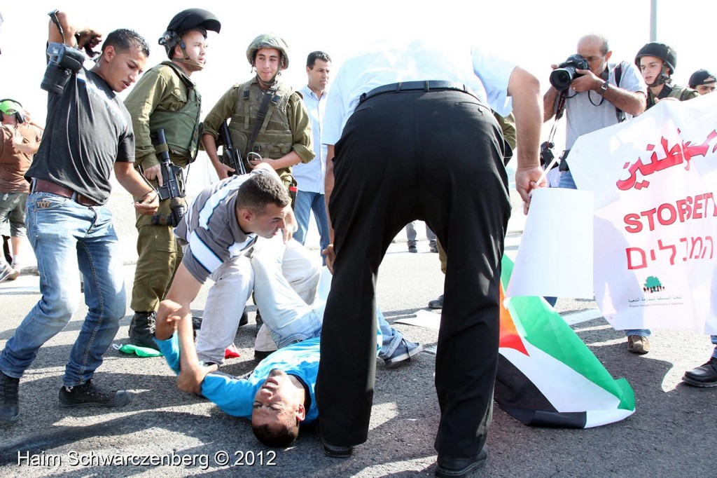 Palestinian and activists blocked Route 443 | IMG_1784