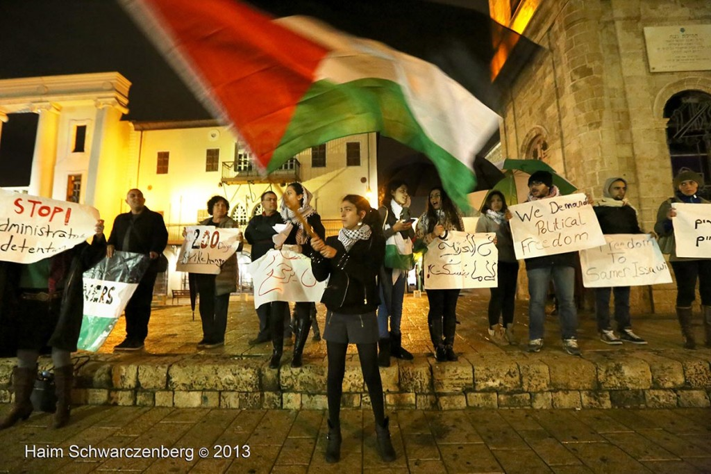 Demonstration in support of Samer Al-'Issawi. Jaffa   IMG_3244