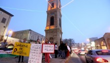 As every Thursday, local Jaffa activists, Palestinian and Jewish alike, held a vigil at clock tower square in support of Palestinian political refugees and protest extra-legal measures such as administrative detention.