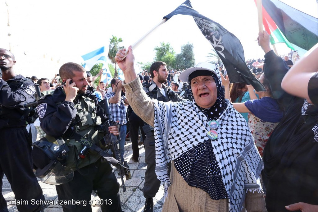 Zionist 'Jerusalem Day' march, Palestinian counter-protest | IMG_2971