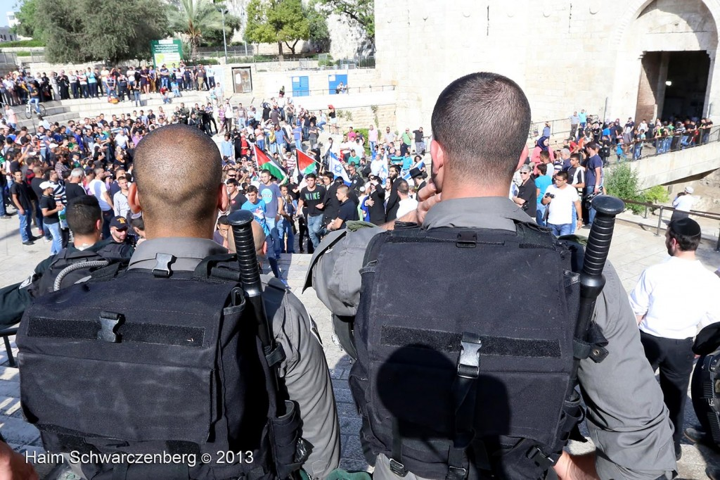 Zionist 'Jerusalem Day' march, Palestinian counter-protest | IMG_3015