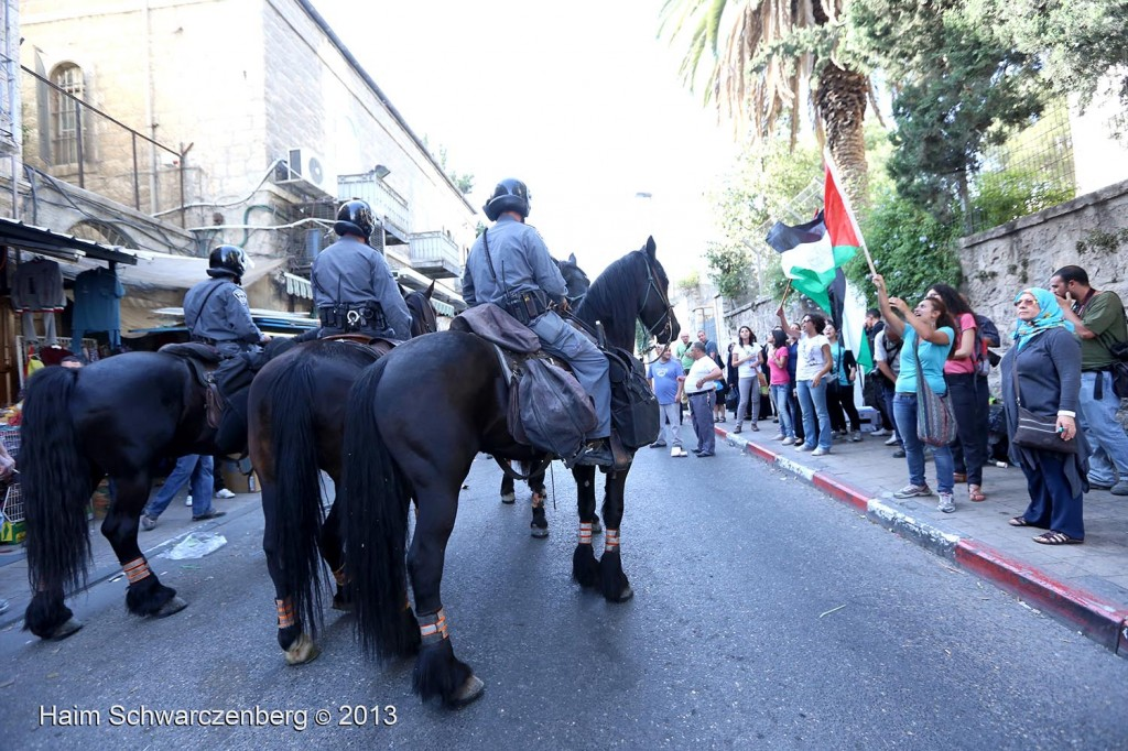 Zionist 'Jerusalem Day' march, Palestinian counter-protest   IMG_3455