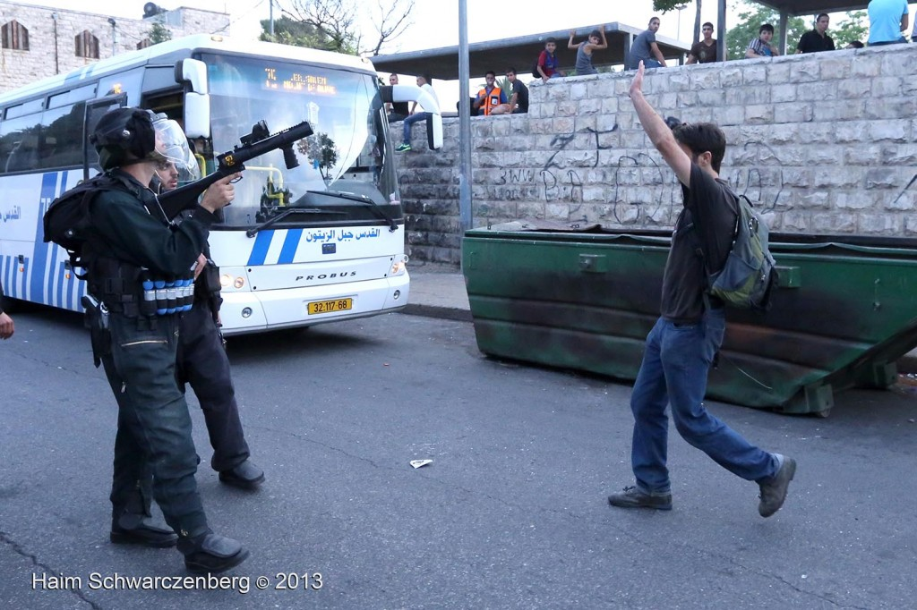 Zionist 'Jerusalem Day' march, Palestinian counter-protest | IMG_3800