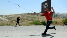Palestinians, accompanied by Israeli and international solidarity activists, marched today in Nabi Saleh in support of the hunger striking political prisoners, over 60 of whom are currently hospitalized and in severe mortal danger. The IDF responded with tear gas and rubber bullets in an attempt to suppress the demonstration. No major injuries reported.