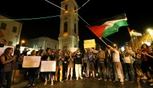 Hundreds of Yafa-based activists filled the city's historic clock tower square in a show of rage over the killing of Muhammad Abu Khdeir from Shu'fat, and the current wave of racist incitement and violence towards Palestinians. Protesters also briefly blocked the road, bringing traffic to a halt.