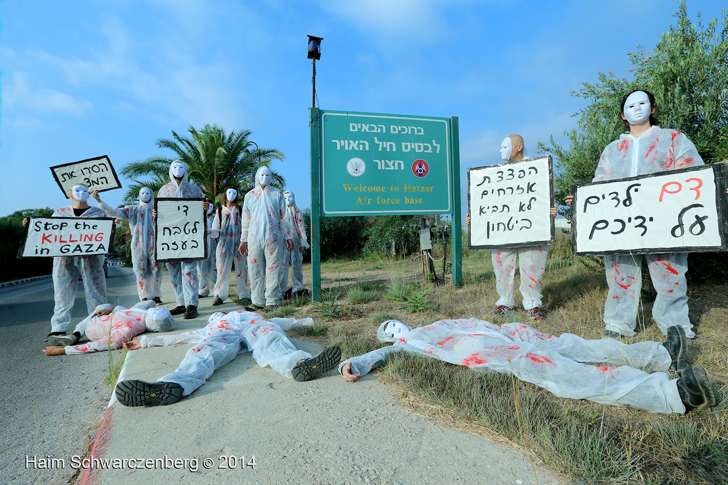 Direct action at Air Force Base against the Massacre in Gaza