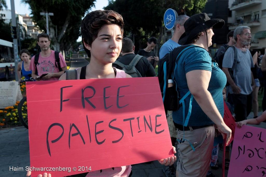 Protesting the assault of Gaza, Tel Aviv | IMG_6698
