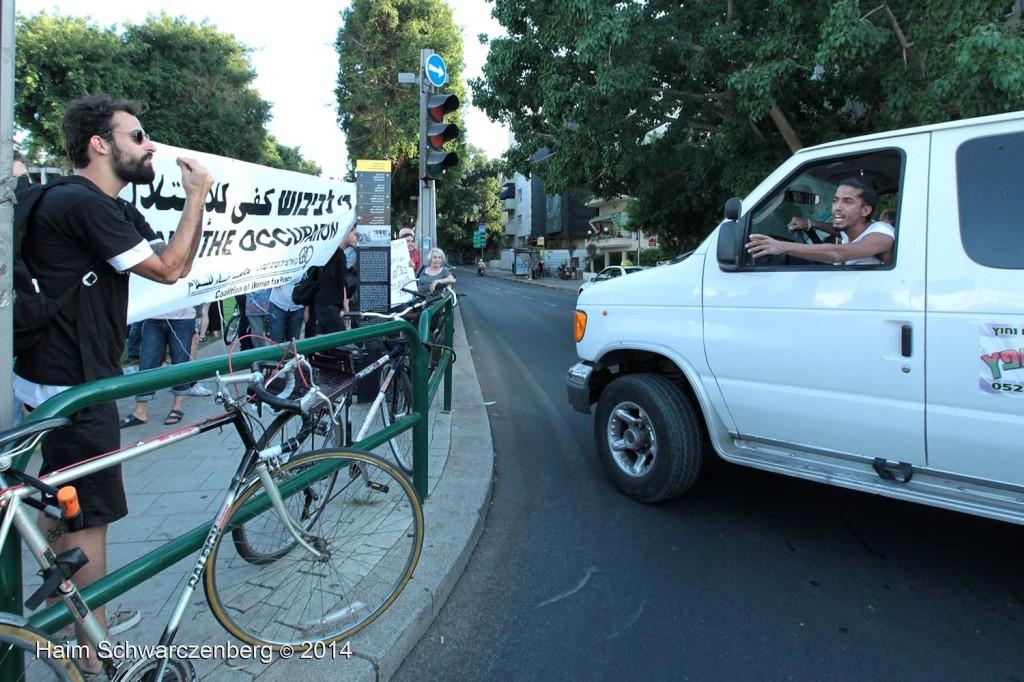 Protesting the assault of Gaza, Tel Aviv | IMG_6831