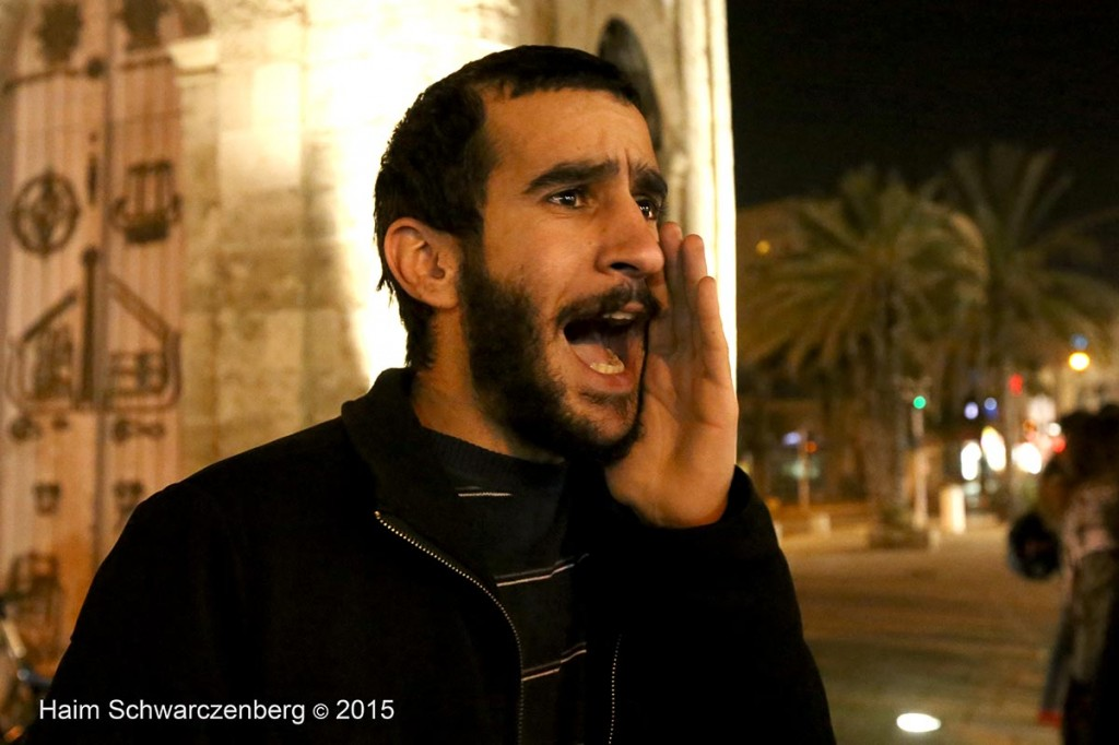 Demonstration of Yafa's clock-tower activist group against Police Brutality 19/01/2015 | IMG_8683