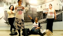 Eight female activists, including single mothers living in public housing, occupied the main offices of Amidar in Tel Aviv today. Amidar, founded as a public housing corporation, is currently in the process of privatisation, as many of its assets are being sold in the market, living families eligible for public housing on the brink of homelessness. The activists came to Amidar offices to remind employees of the plight of Mazal Arami and her six children, about to lose their home, and many others in similar situation.  Finally, the women were told Arami would speak to an executive who guarantees a solution for her family, as long as the other activists leave the premises. The executive promised Arami he would be in touch with her the following day.