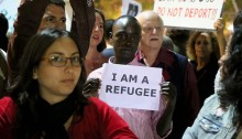 "Recently, Israel has confirmed that it now forces African asylum seekers to leave the country heading to a ""third country"" in Africa. Some of those already deported have been put in harm's way back in their country of origin, and several have been killed. Israeli activists gathered in Tel Aviv to protest the forced deportations of asylum seekers and demanded they are allowed to remain. They were confronted by another group that called for the immediate deportation of all asylum seekers, who they refer to as ""infiltrators."""