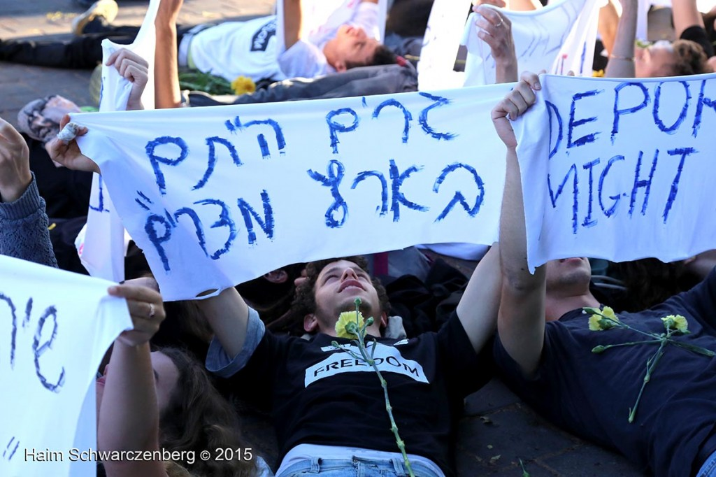 Protesting the expulsion of Asylum seekers, Tel Aviv 07/05/2015 | IMG_6110