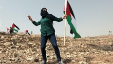 This Friday, Palestinians called for hoisting the national flag, as a symbol of steadfastness and resistance to the ongoing Israeli occupation. In addition, Palestinians expressed their rage over the killing of the Dawabsheh family of Duma - Sa'd, baby Ali and Riham, who passed away earlier this week - and call on the Israeli authorities to arrest the arsonists. In Nabi Saleh, which has endured increased violence in the past few weeks, locals and solidarity activists confronted the Israeli army waving the Palestinian flag. The IDF responded with tear gas and rubber bullets, as well as several attempts to nab protesters and arrest them. Soldiers tried to ambush protesters, but failed to arrest them. Instead, they raided the village and hurled sun grenades and tear gas canister at houses and olive trees, causing a small fire. No major injuries reported.