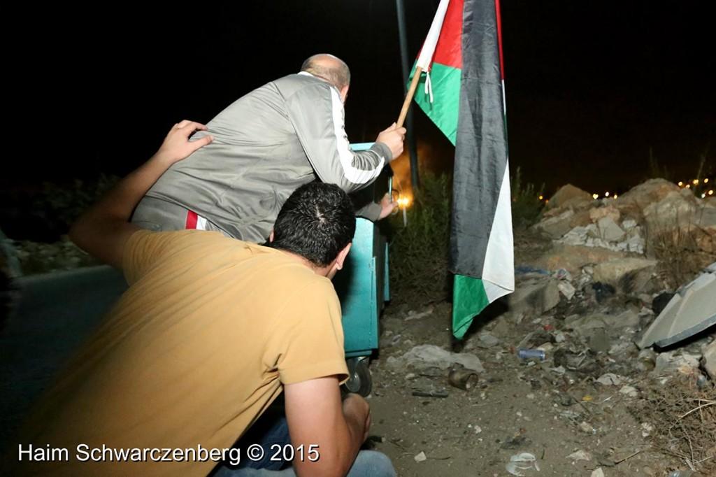 Firing live ammunition on Palestinian demonstrators 04/10/2015 | IMG_6422