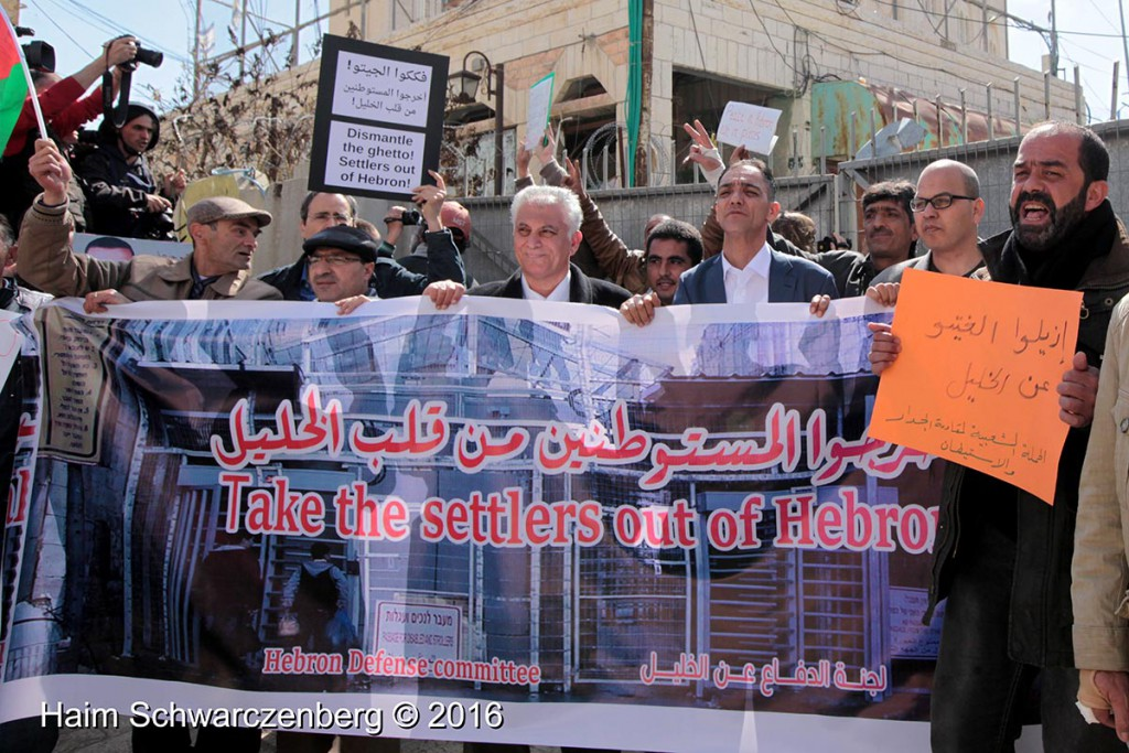 Protest in Hebron: Dismantle the Ghetto! Settlers leave Hebron! 20/02/2016 | IMG_1823