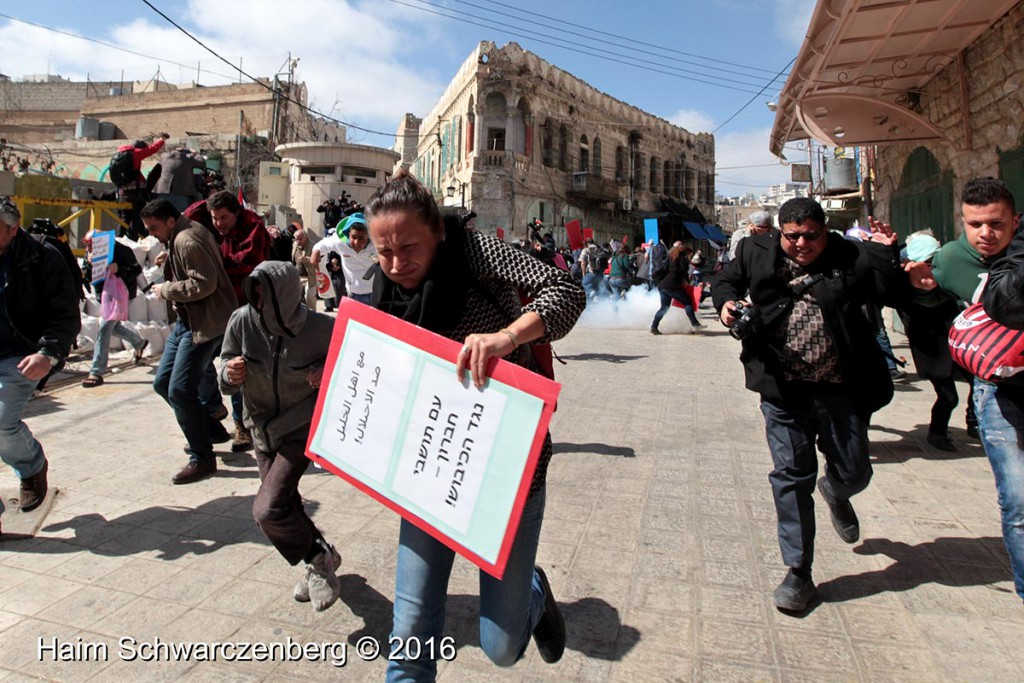 Protest in Hebron: Dismantle the Ghetto! Settlers leave Hebron! 20/02/2016 | IMG_1839