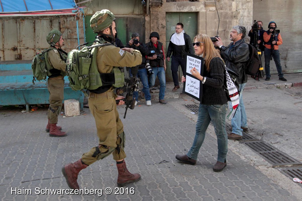 Protest in Hebron: Dismantle the Ghetto! Settlers leave Hebron! 20/02/2016 | IMG_1900