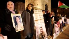 Scores of Jaffa-based activists demonstrated in the city's historical Clock Tower Square calling for the release of Walid Daqqa, a Palestinian political prisoner serving a life sentence in Israeli prison. Daqqa was convicted of participating in resistance operation that targeted an Israeli soldier, and has been jailed since 1986. Recently, Palestinian MK Bassel Ghattas was accused of trying to smuggle a cell phone to Daqqa, who, like all Palestinian political prisoners, are forbidden from using telephones. In retaliation, the Israeli prison Services transferred Daqqa from Ketziot prison to solitary confinement in Ramon prison. Protesters demanded his release from solitary confinement and his release from prison after more than three decades. Although a few Israeli fascists attempted to threaten demonstrators and disrupt the event, the protest concluded without incident.