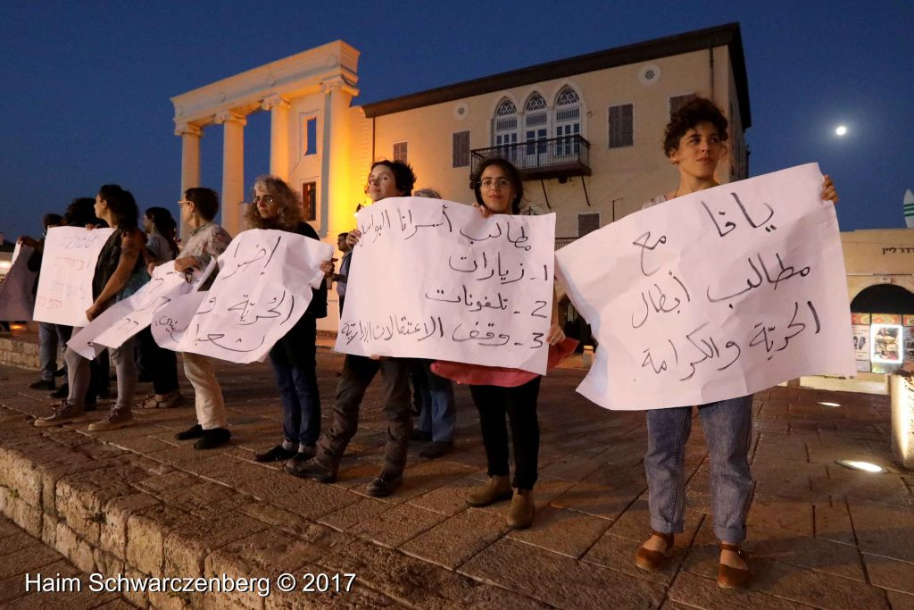 Jaffa stands in solidarity with Palestinian political prisoners | FW7A4729