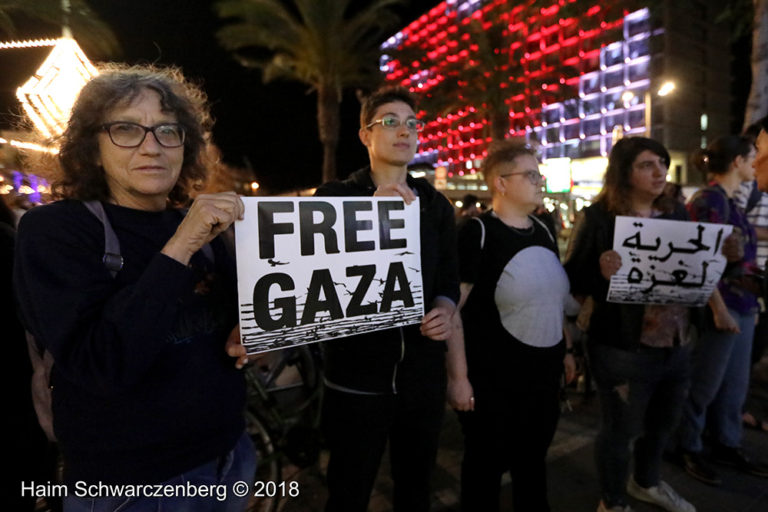 Protest calling for an end to shooting protesters in Gaza, Tel Aviv | FW7A2444