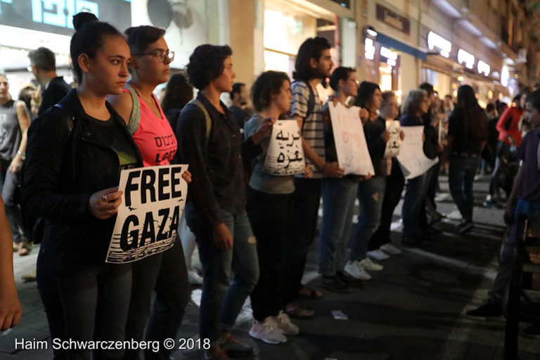 Protest calling for an end to shooting protesters in Gaza, Tel Aviv | FW7A2587