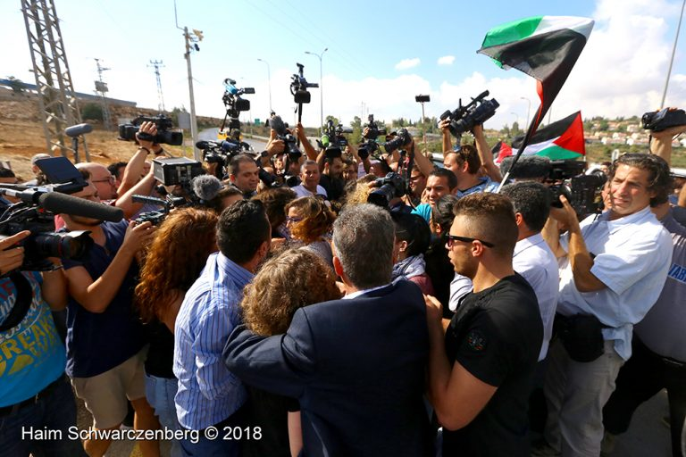 Ahed and Neriman Tamimi released from Israeli prison 29/07/2018 | IMG_4591