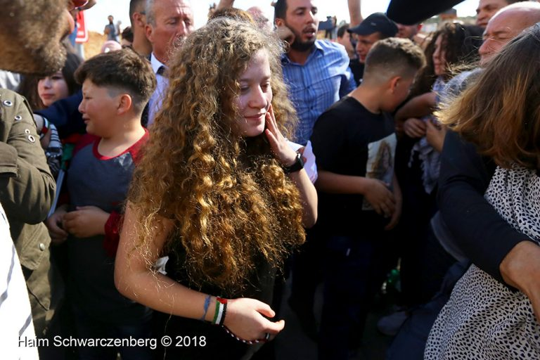 Ahed and Neriman Tamimi released from Israeli prison 29/07/2018 | IMG_4685