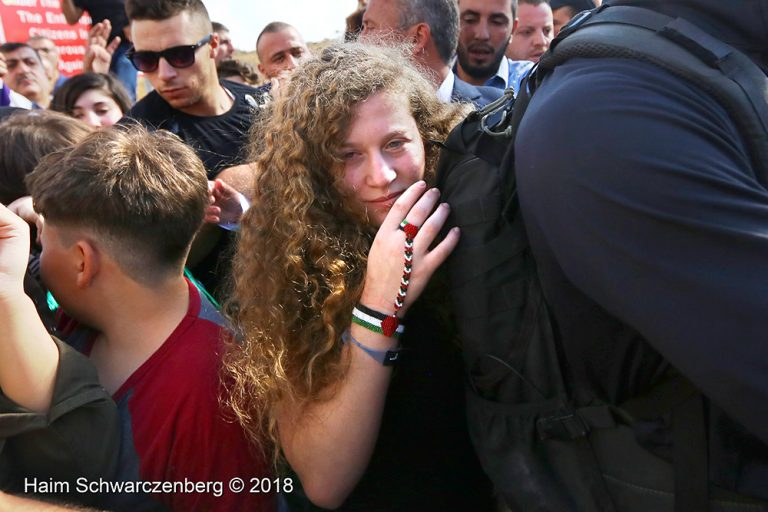 Ahed and Neriman Tamimi released from Israeli prison 29/07/2018 | IMG_4692