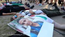 Die-in at the Euro vision