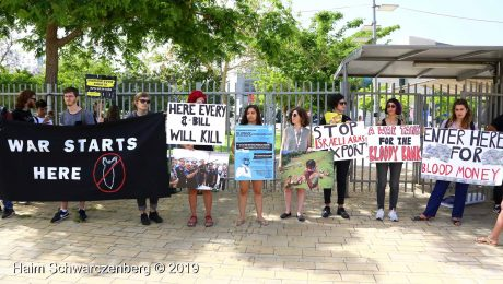 Human Rights activists protest outside ISDEF